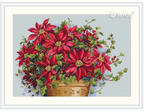 Poinsettia - Merejka Counted Cross Stitch Kit