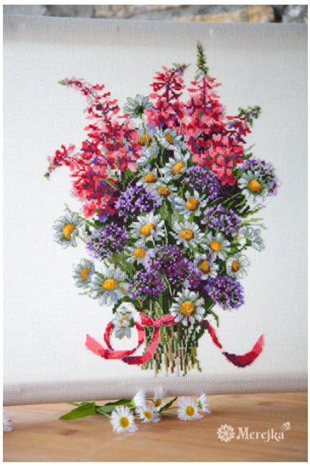 The Field Bouquet - Merejka Counted Cross Stitch Kit