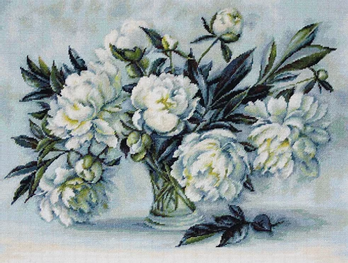 Peonies - Luca S Counted Cross Stitch Kit