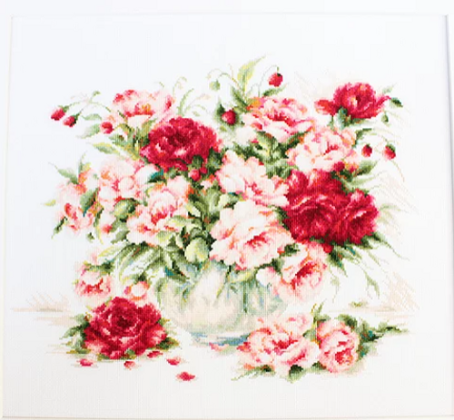 Peonies - Luca-S Counted Cross Stitch Kit