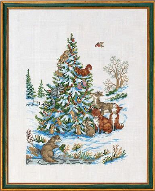 Animals Around the Christmas Tree - Eva Rosenstand Counted Cross Stitch Kit