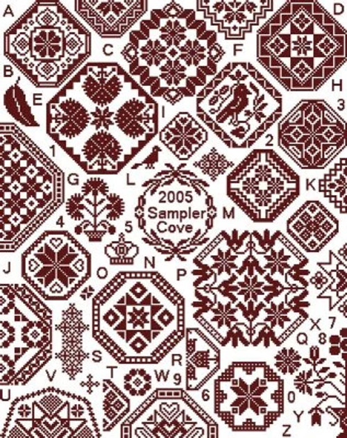 Grace Quaker Sampler - Sampler Cove Counted Cross Stitch Pattern