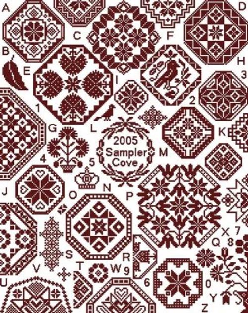 Grace Quaker Sampler - Sampler Cove Counted Cross Stitch Pattern