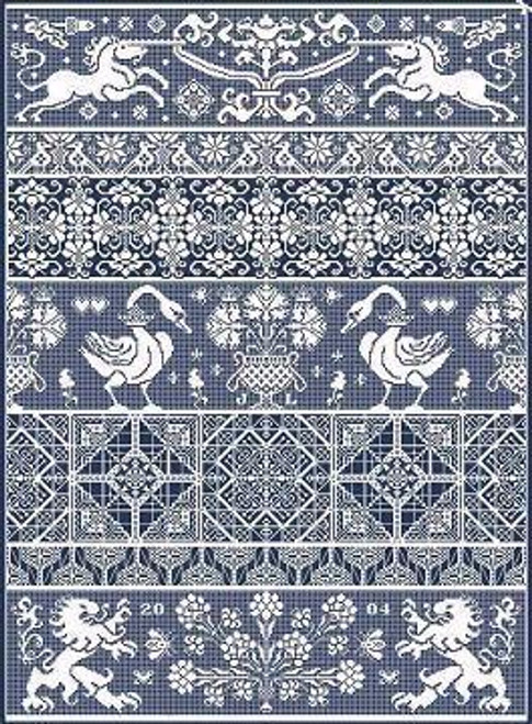 Bagatelle Long Dog Samplers Counted Cross Stitch Pattern