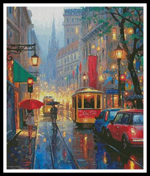 City Lights Counted Cross Stitch Pattern