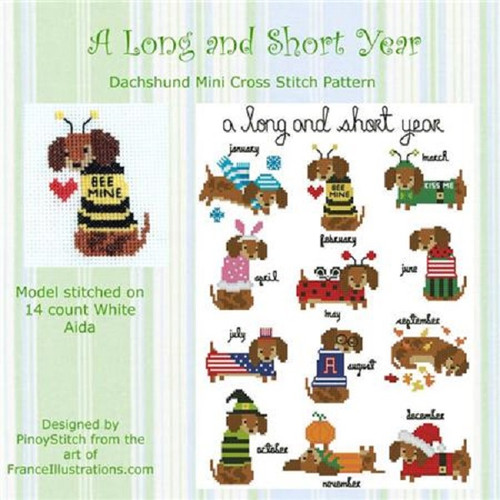 Dachshund Year Round Collection Counted Cross Stitch Pattern