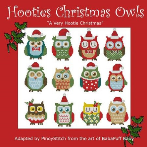 Hooties Christmas Owls Minis Counted Cross Stitch Pattern