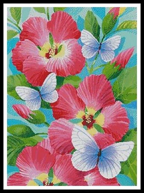 Butterfly Violet Counted Cross Stitch Pattern