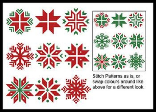 Christmas Snowflake Set 1 Counted Cross Stitch Pattern
