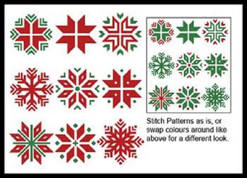 Christmas Snowflake Set 1 Counted Cross Stitch Pattern