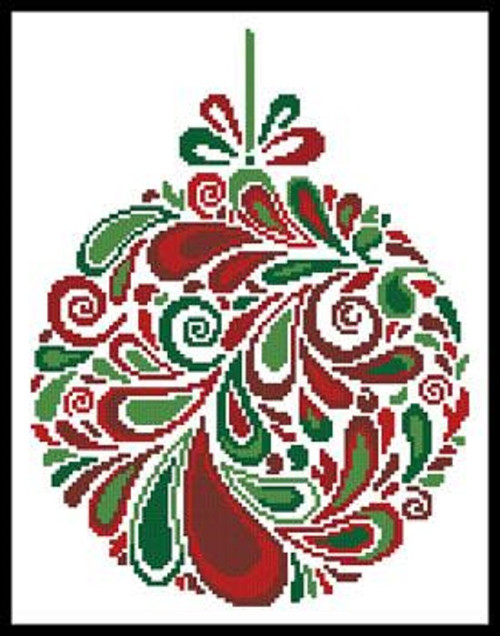 Colourful Christmas Bauble 5 Counted Cross Stitch Pattern