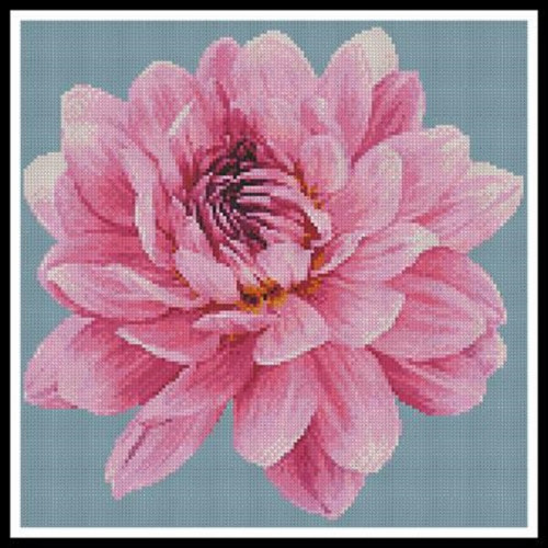 Mini Dahlia Counted Cross Stitch Pattern