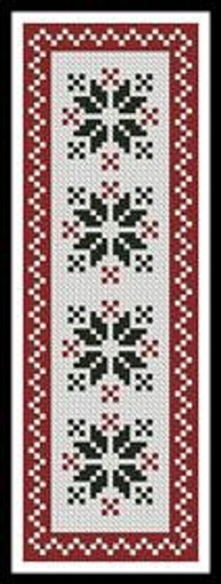 Nordic Bookmark 2 Counted Cross Stitch Pattern