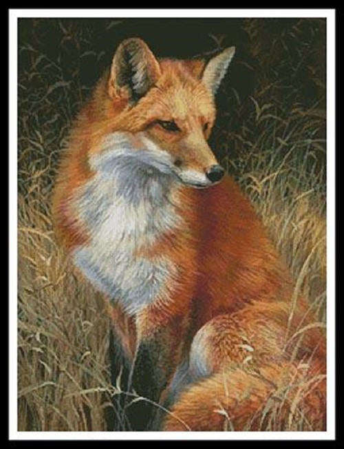Red Fox Painting Counted Cross Stitch Pattern