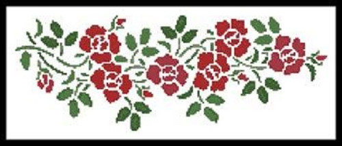 Rose Garland Counted Cross Stitch Pattern