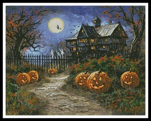 Spooky Halloween Counted Cross Stitch Pattern