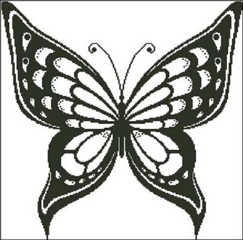 Butterfly Silhouette 3 Counted Cross Stitch Pattern