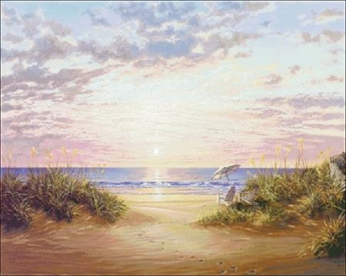 Paradise Dawn Counted Cross Stitch Pattern
