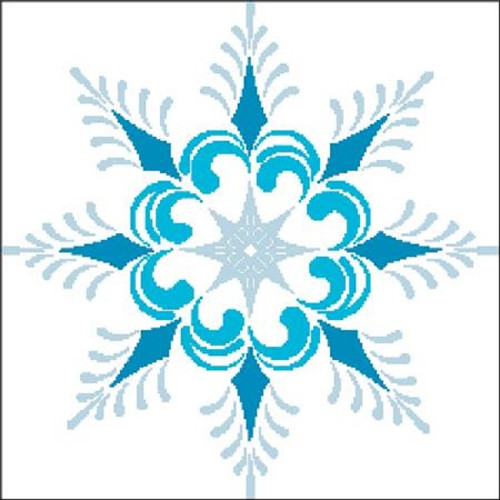 Snowflake Silhouette 1 Counted Cross Stitch Pattern