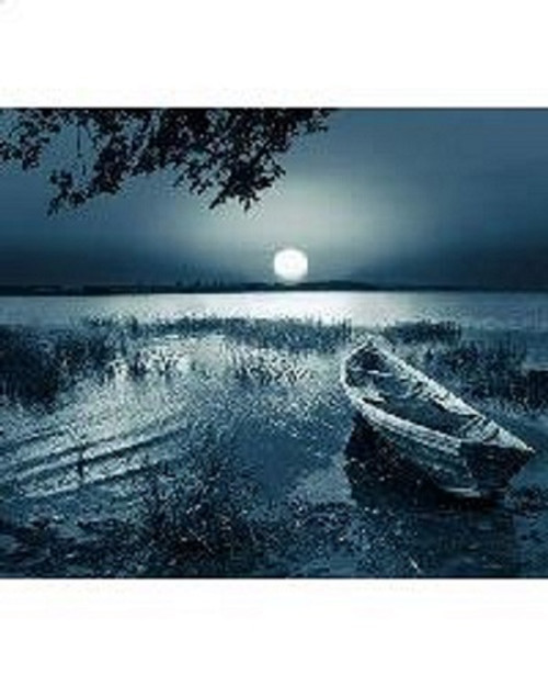 Moonlight Lake Counted Cross Stitch Pattern