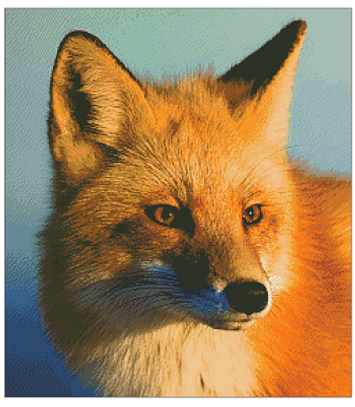 Fox Close Up Counted Cross Stitch Pattern - PDF Download