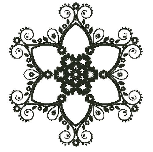 Flowers and Swirls-PDF Download
