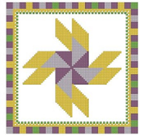 Barn Dance Quilt Block  - PDF Download