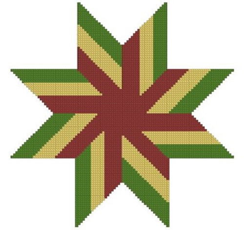 Quilt Star Counted Cross Stitch Pattern- PDF Download