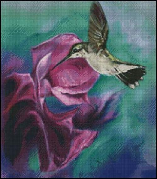 Hummingbird Counted Cross Stitch Pattern
