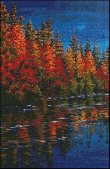 Autumn Contrast Counted Cross Stitch Pattern