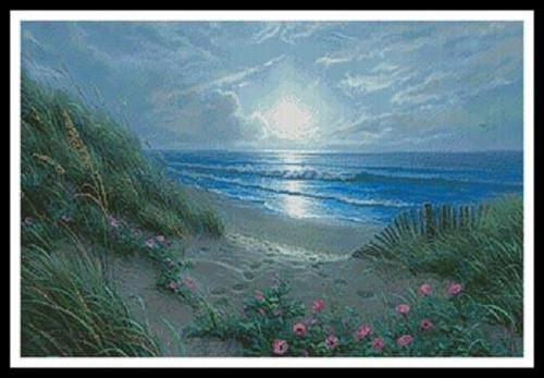 Evening Glories Counted Cross Stitch Pattern