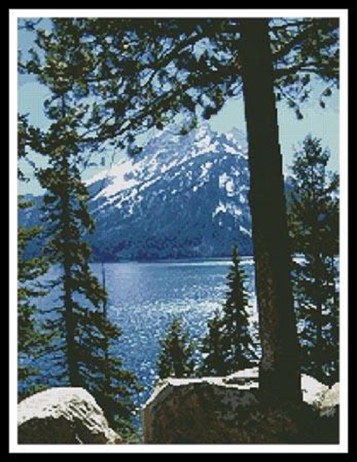Jenny Lake Counted Cross Stitch Pattern
