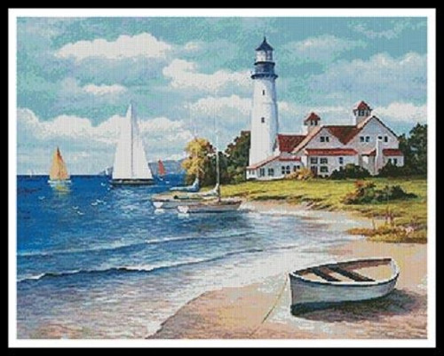 Lighthouse Bay Counted Cross Stitch Pattern