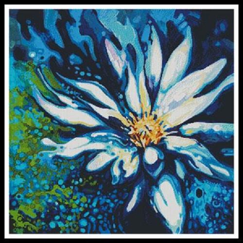 Lotus Counted Cross Stitch Pattern