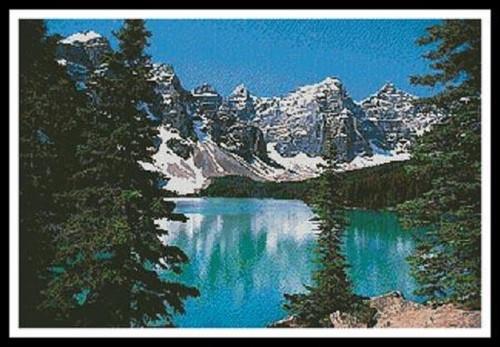 Mountain Lake Counted Cross Stitch Pattern