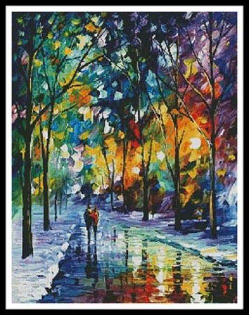 Night Colors Counted Cross Stitch Pattern