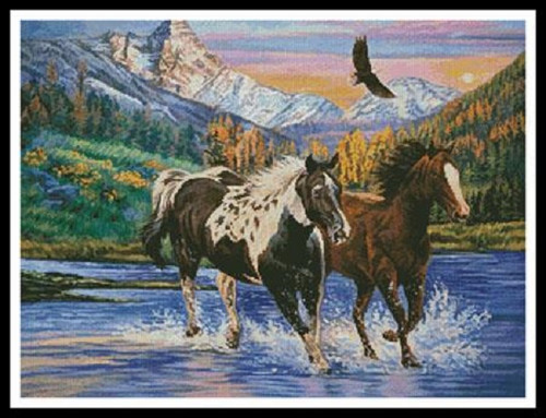 Running Free Counted Cross Stitch Pattern