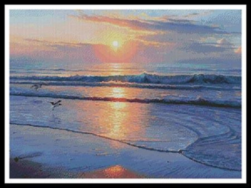 Serenity Beach Counted Cross Stitch Pattern