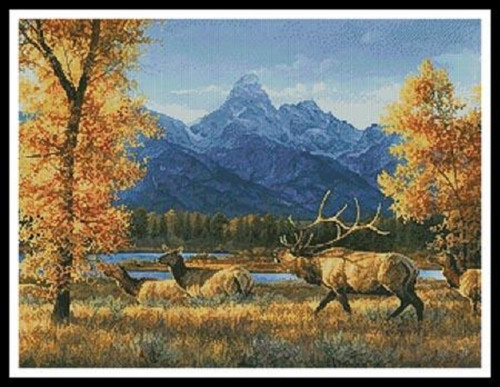 Teton Range Counted Cross Stitch Pattern