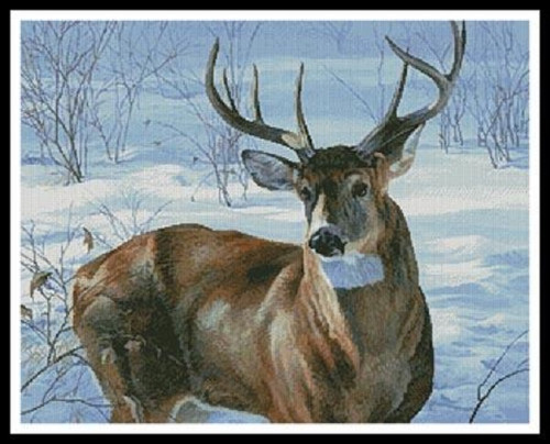Whitetail Buck Counted Cross Stitch Pattern