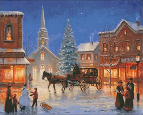 Christmas in Pleasantville Counted Cross Stitch Pattern