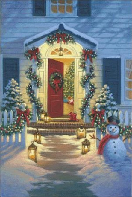 Christmas Porch Counted Cross Stitch Pattern