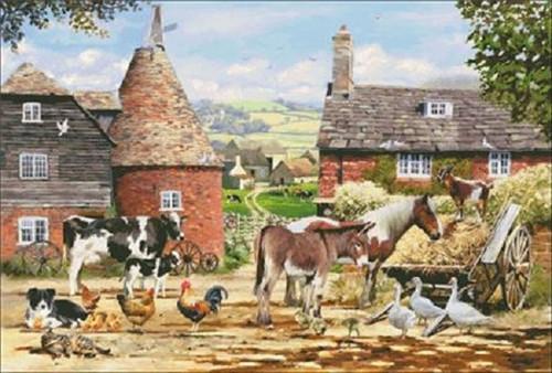 Farmyard Counted Cross Stitch Pattern