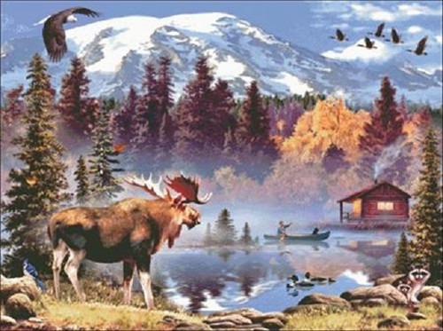 Moose Counted Cross Stitch Pattern