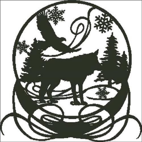 Wolf Snowglobe Counted Cross Stitch Pattern