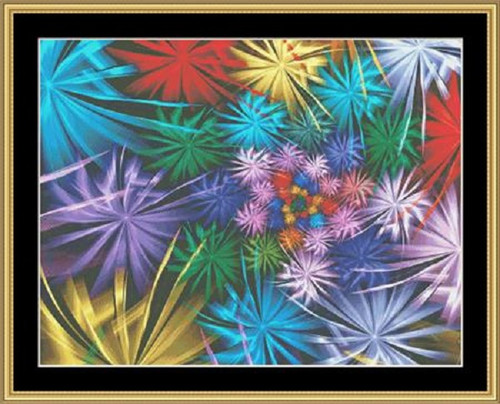 Fractal Unlimited II - 2 Counted Cross Stitch Pattern