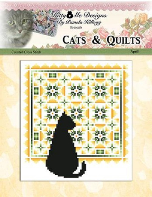 Cats and Quilts April Counted Cross Stitch Pattern