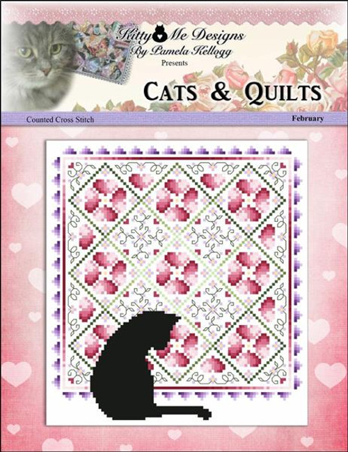 Cats and Quilts February Counted Cross Stitch Pattern