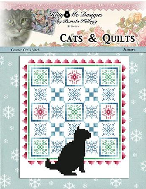Cats and Quilts January Counted Cross Stitch Pattern