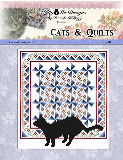 Cats and Quilts July Counted Cross Stitch Pattern